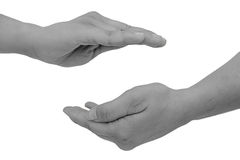 Τα θηλυκά χέρια παρουσιάζουν προστασία Στοκ Φωτογραφία