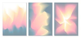 Τα θολωμένα κυματιστά αφηρημένα φουτουριστικά μαλακά χρώματα ρέουν συνδυασμένα υπόβαθρα κλίσης απεικόνιση αποθεμάτων