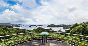 Τα διάσημα νησιά kujuku αγνοούν στο Σάσεμπο, Kyushu Στοκ Φωτογραφία