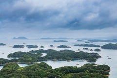 Τα διάσημα νησιά kujuku αγνοούν στο Σάσεμπο, Kyushu Στοκ Εικόνες