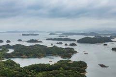 Τα διάσημα νησιά kujuku αγνοούν στο Σάσεμπο, Kyushu Στοκ εικόνες με δικαίωμα ελεύθερης χρήσης