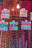 Τα διάσημα λουκάνικα από Vigan, Φιλιππίνες Στοκ φωτογραφία με δικαίωμα ελεύθερης χρήσης