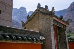 Τα διάσημα τουριστικά αξιοθέατα στην επαρχία κινέζικα, βουνό Shaanxi Huashan στοκ εικόνες