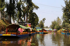 Τα διάσημα trjineras του xochimilco, Πόλη του Μεξικού στοκ φωτογραφία με δικαίωμα ελεύθερης χρήσης