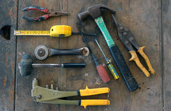 Τα διάφορα εργαλεία είναι διαθέσιμα Στοκ φωτογραφίες με δικαίωμα ελεύθερης χρήσης