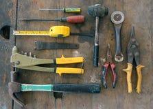Τα διάφορα εργαλεία είναι διαθέσιμα Στοκ φωτογραφία με δικαίωμα ελεύθερης χρήσης