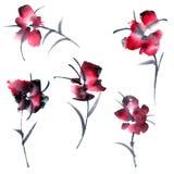 τα διακοσμητικά στοιχεία floral πολλά θέτουν Στοκ φωτογραφία με δικαίωμα ελεύθερης χρήσης