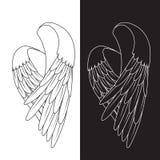 Τα διανυσματικά άσπρα φτερά Στοκ Εικόνες