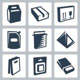 Τα διανυσματικά εικονίδια συσκευασίας καθορισμένα #2 διανυσματική απεικόνιση