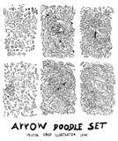 Τα διανυσματικά συρμένα χέρι βέλη καθορισμένα eps10 Στοκ Εικόνα