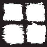 Τα διανυσματικά υπόβαθρα κτυπημάτων βουρτσών grunge θέτουν, ορθογώνιο και τετράγωνο, για το κείμενο στοκ εικόνες