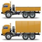 Τα διανυσματικά φορτηγά θέτουν 1 Στοκ φωτογραφία με δικαίωμα ελεύθερης χρήσης