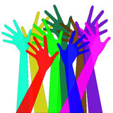 Τα διανυσματικά χέρια Στοκ εικόνες με δικαίωμα ελεύθερης χρήσης