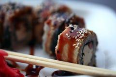 Τα ιαπωνικά τρόφιμα είναι σούσι Στοκ Εικόνες