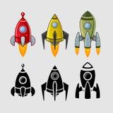 Τα διαστημόπλοια καθορισμένα το χρώμα και το Μαύρο Στοκ Φωτογραφία