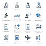 Τα ιατρικά & εικονίδια υγειονομικής περίθαλψης θέτουν 2 - υπηρεσίες Στοκ Φωτογραφίες