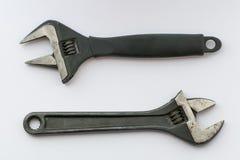 Τα διευθετήσιμα γαλλικά κλειδιά, κλείνουν επάνω Στοκ Εικόνα