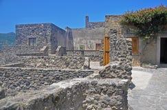 Τα δικαστήρια του κάστρου Aragonese Στοκ Εικόνα