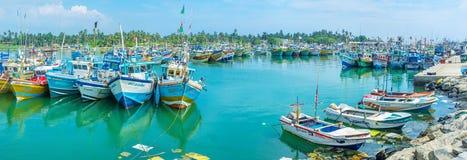 Τα λιμάνια αλιείας της Σρι Λάνκα στοκ φωτογραφίες