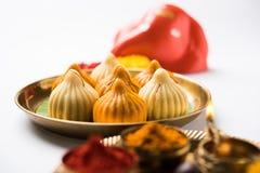 Τα ινδικά γλυκά τρόφιμα κάλεσαν modak προετοιμασμένος συγκεκριμένα στο φεστιβάλ ή ganesh το chaturthi ganesh Στοκ εικόνες με δικαίωμα ελεύθερης χρήσης