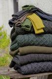 τα ιρλανδικά πλέκουν μάλλ& Στοκ Εικόνα