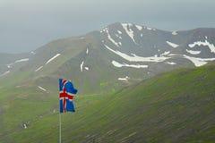 τα ισλανδικά σημαιών Στοκ Φωτογραφία
