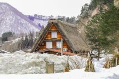 Τα ιστορικά χωριά shirakawa-πηγαίνουν το χειμώνα, ένας κόσμος Cultur στοκ εικόνα