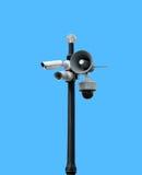 Τα κάμερα ασφαλείας σταθμεύουν δημόσια Στοκ Εικόνες
