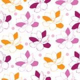Τα κήπος-λουλούδια Magnolia στην άνθιση άνευ ραφής επαναλαμβάνουν το σχέδιο 3 όλη η αλλαγή ανασκόπησης χρωματίζει το εύκολο πρότυ απεικόνιση αποθεμάτων