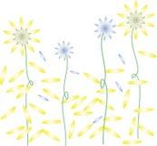 Τα κίτρινα λουλούδια πλημμυρίζονται απεικόνιση αποθεμάτων