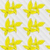Τα κίτρινα φύλλα δίνουν το συρμένο σχέδιο Στοκ εικόνες με δικαίωμα ελεύθερης χρήσης