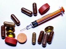 Τα καθημερινά φάρμακά μας - φάρμακο στοκ εικόνες