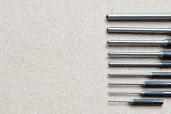 Τα καθορισμένα εργαλεία διατρήσεων καρφιτσών ρόλων για αφαιρούν την καρφίτσα ή το σύρτη οποιουδήποτε μηχανικού Στοκ Φωτογραφία