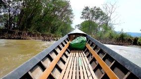 Τα κανάλια της λίμνης Inle, το Μιανμάρ απόθεμα βίντεο
