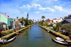 Τα κανάλια της Βενετίας μια ηλιόλουστη νότια ημέρα Καλιφόρνιας Στοκ εικόνες με δικαίωμα ελεύθερης χρήσης