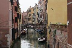 Τα κανάλια της Βενετίας Στοκ Φωτογραφίες