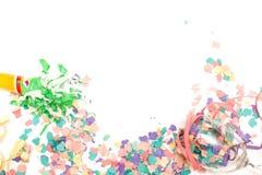 τα καπέλα κομφετί μπαλονιών αντιτίθενται συμβαλλόμενο μέρος Στοκ Εικόνα