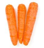 τα καρότα απομόνωσαν τρία Στοκ εικόνα με δικαίωμα ελεύθερης χρήσης