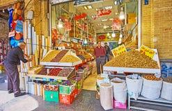 Τα καταστήματα της Τεχεράνης μεγάλο Bazaar Στοκ Εικόνες