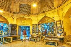 Τα καταστήματα του saray-ε Moshir, Shiraz, Ιράν Στοκ Φωτογραφία
