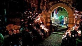 Τα καταστήματα των αραβικών φω'των στο παλαιό Κάιρο φιλμ μικρού μήκους