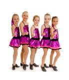 Τα κατώτερα κορίτσια τρυπούν την ομάδα χορού Στοκ Φωτογραφία
