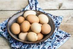 τα καφετιά αυγά στρέφουν αρχικά δύο Στοκ Εικόνα