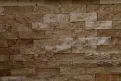 Τα καφετιά τούβλα πετρών στοκ φωτογραφία