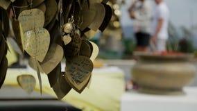 Τα καφετιά φύλλα μετάλλων ταλαντεύονται στο φτερό έξω, κλείνουν επάνω απόθεμα βίντεο