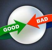 Τα καλά κακά βέλη παρουσιάζουν πρώτη διαλογη και ερασιτεχνικός διανυσματική απεικόνιση