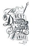 Τα καλύτερα όνειρα διανυσματική απεικόνιση