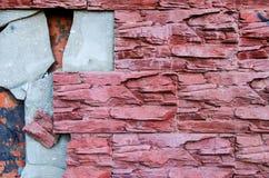 Τα κεραμίδια είναι σπασμένα στον τοίχο Στοκ εικόνα με δικαίωμα ελεύθερης χρήσης