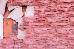 Τα κεραμίδια είναι σπασμένα στον τοίχο Στοκ Εικόνα