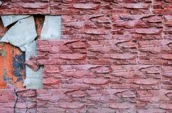 Τα κεραμίδια είναι σπασμένα στον τοίχο Στοκ Εικόνες
